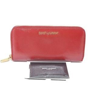 100% Auth Saint Laurent Zippy Wallet